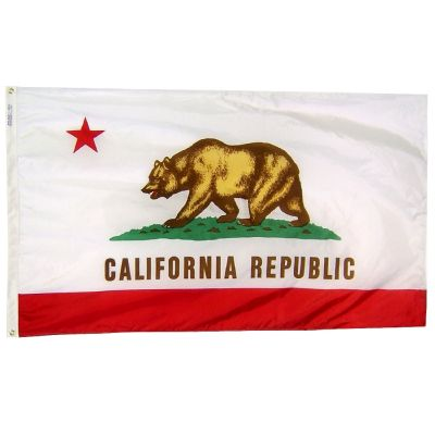 3ft. x 5ft. California Flag with Brass Grommets