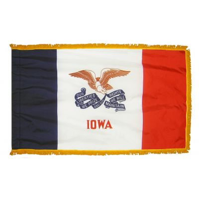 4ft. x 6ft. Iowa Fringed for Indoor Display
