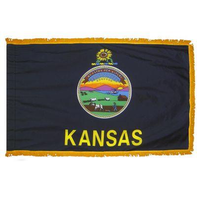 4ft. x 6ft. Kansas Fringed for Indoor Display