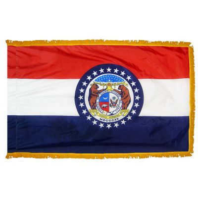 4ft. x 6ft. Missouri Fringed for Indoor Display