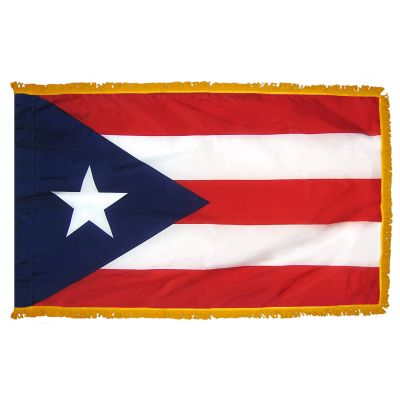 3ft. x 5ft. Puerto Rico Fringed for Indoor Display