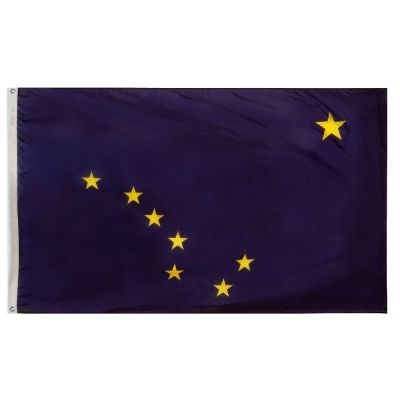 12 in. x 18 in. Alaska Flag with Brass Grommets