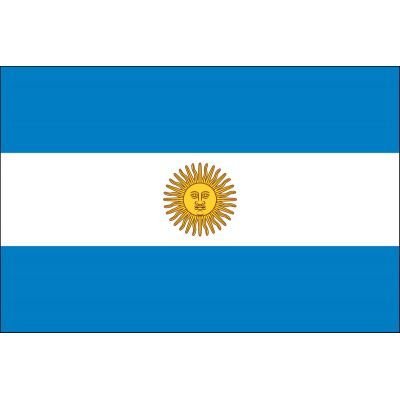 3 ft. x 5 ft. Argentina Flag Seal E-poly with Brass Grommets