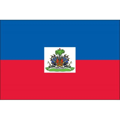3 ft. x 5 ft. Haiti Flag Seal E-poly with Brass Grommets