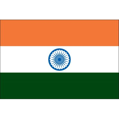 3 ft. x 5 ft. India Flag E-poly with Brass Grommets