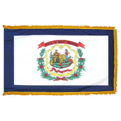 2ft. x 3ft. West Virginia Flag Fringed for Indoor Display