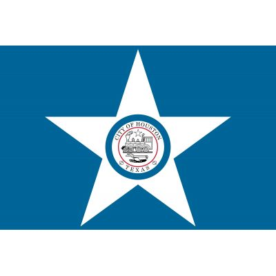 4 x 6ft. City of Houston Flag