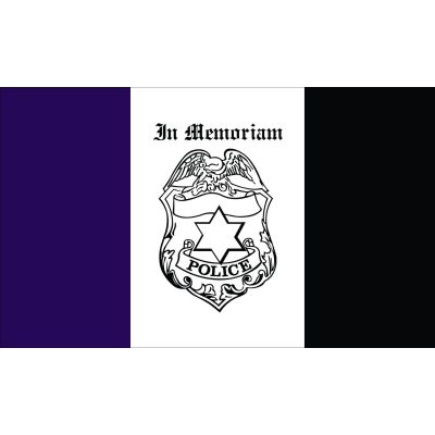 3 x 5 ft. Police Mourning Flag Outdoor Use