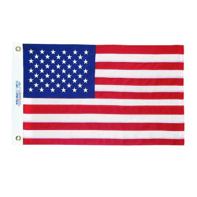 16 in. x 24 in. US Flag Embroidered Stars & Sewn Strips