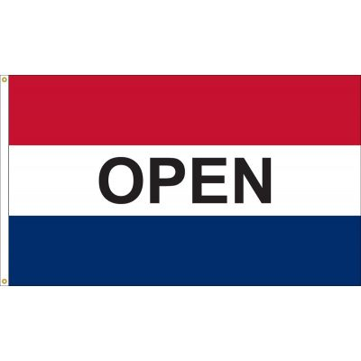 3 x 5 ft. Open Horizontal Message Flag Red White and Blue