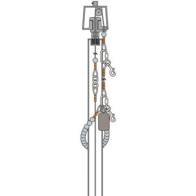 20 ft. to 35 ft. Cutaway Internal Halyard