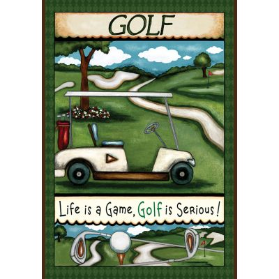 Going Golfing House Flag