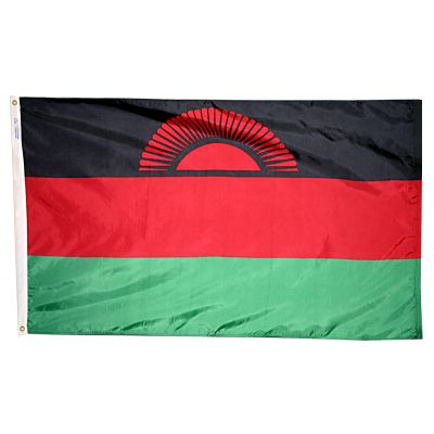 2ft. x 3ft. Malawi Flag with Canvas Header