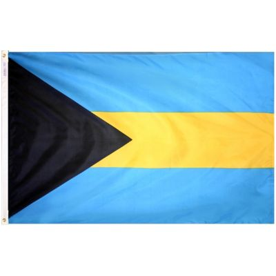 12 in. x 18 in. Bahamas Flag with Canvas Header