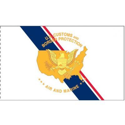 3 ft. x 5 ft. US CBP Air & Marine Flag Heading & Grommets
