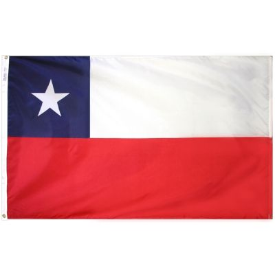 3ft. x 5ft. Chile Flag E-Poly with Brass Grommets