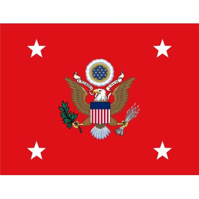2ft. x 3ft. Secretary of The Army Flag w/Heading & Grommets