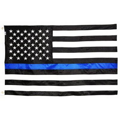 3ft. x 5ft. Thin Blue Line US Flag Nylon Sewn