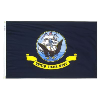 3ft. x 5ft. Navy Flag Outdoor Woven Polyester