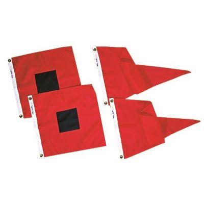 Size 2 - US Storm Warning Signal Flag Set Finished w/ Grommets