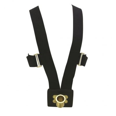 Black 10 Rib Web Flagpole Harness w/Brass Cup