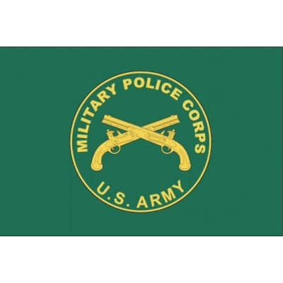 3ft. x 5ft. U.S. Army Military Police Flag Heading & Grommets