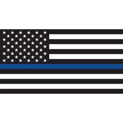 2 ft. x 3 ft. Thin Blue Line US Flag
