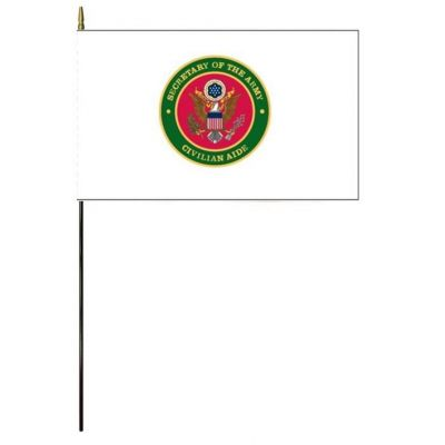 3 x 5 in. Secretary of the Army Civilian Aide Flag