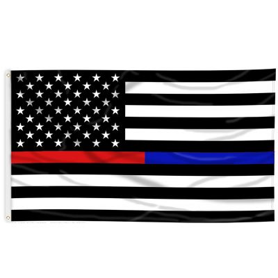 3ft. x 5ft. Thin Red & Blue Line US Flag