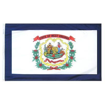 12 x 18 in. West Virginia flag