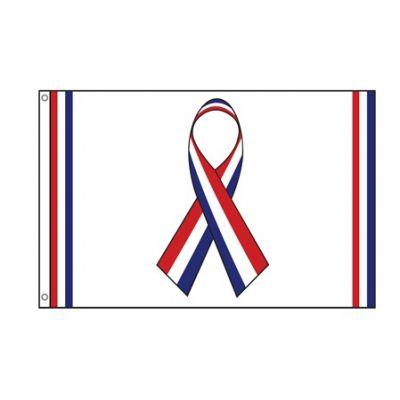 2 ft. x 3 ft. Red, White, Blue Ribbon Flag