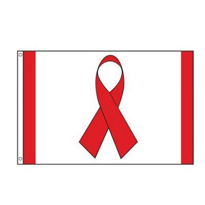 2ft. x 3ft. Red Ribbon Flag