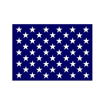 2ft. 8in. x 3ft. 9in. U.S. Union Jack Ensign