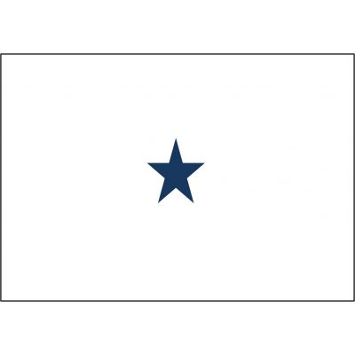 2ft. x 3 ft. Navy 1 Star Non-Seagoing Admiral Flag w/Grommets