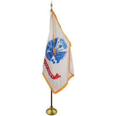 4 x 6ft. Army Flag Indoor Display Set-No Fringe