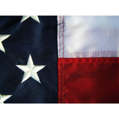 Embroidered Stars on a US Flag