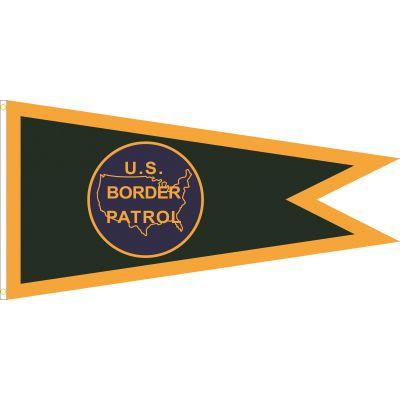 36 in. x 72 in. Border Patrol Pennant w/ Heading & Grommets