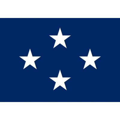2ft. x 3ft. Navy 4 Star Admiral Flag w/Grommets
