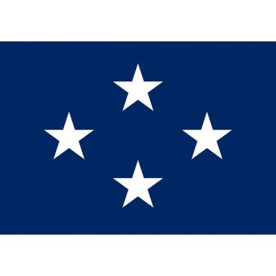 3ft. x 4 ft. Navy 4 Star Admiral Flag w/Grommets