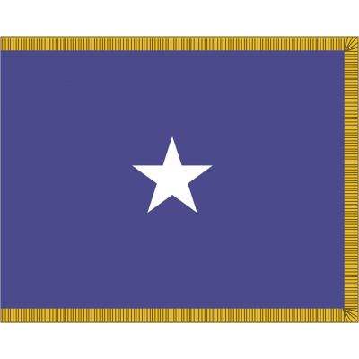 3ft. x 4ft. Air Force 1 Star General Flag Indoor w/ Fringe