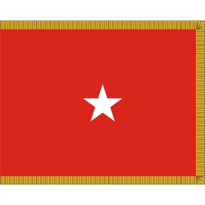3ft. x 4ft. Army 1 Star General Flag Display w/Fringe