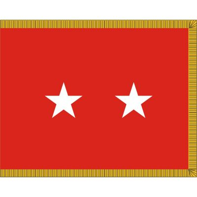 3ft. x 5ft. Army 2 Star General Flag Display w/Fringe