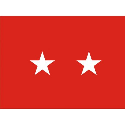 3ft. x 4ft. Army 2 Star General Flag Pole Sleeve