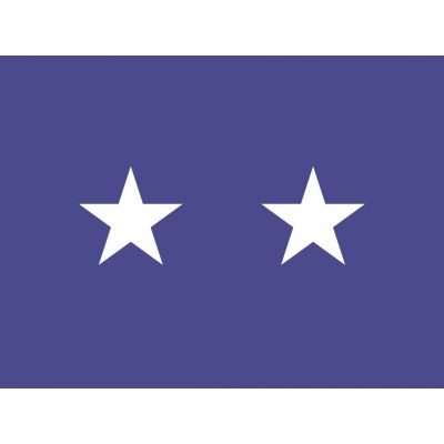 3ft. x 4ft. Air Force 2 Star General Flag w/ Side Pole Sleeve