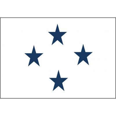 3ft. x 5ft. Navy 4 Star Admiral Flag Non-Seagoing w/Grommets