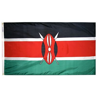 2ft. x 3ft. Kenya Flag with Canvas Header