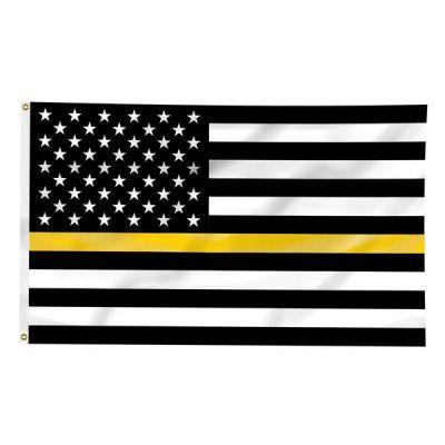 3ft. x 5ft. Thin Gold Line US Flag