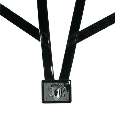 Black Gloss Honor Guard Flag Carrying Harness w/Nickel Cup