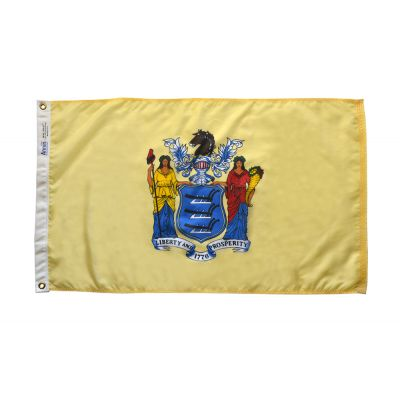 4ft. x 6ft. New Jersey Flag with Brass Grommets