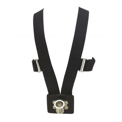 Black 10 Rib Web Flag Carrying Harness Nickel Cup
